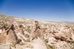 Cappadocia, Turquia Ajardine com figuras estranhas da resistência no vale de Devrent Foto de Stock Royalty Free