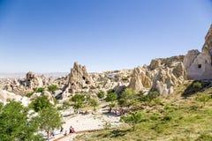 Cappadocia, Turquia Complexo antigo do monastério da caverna no museu do ar livre das rochas no parque nacional de Goreme Foto de Stock Royalty Free
