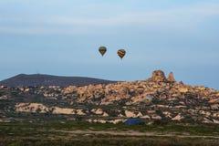 Cappadocia Turquia no balão imagem de stock