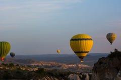 Cappadocia Turquia no balão imagens de stock