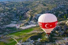 Cappadocia Turquia no balão imagem de stock royalty free