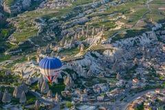 Cappadocia Turquia no balão fotos de stock royalty free