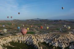 Cappadocia Turquia no balão fotografia de stock royalty free