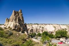 Cappadocia, Turquia Rochas pitorescas no museu do ar livre no parque nacional de Goreme Fotos de Stock Royalty Free