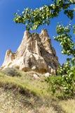 Cappadocia, Turquia Uma das rochas no museu do ar livre no parque nacional de Goreme Imagens de Stock