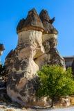 Cappadocia, Turquie Cheminée féerique Multihead lapident des champignons dans la vallée des moines et du St Simon Church Vallée d Images libres de droits