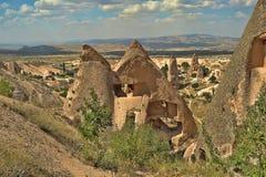 Cappadocia. Uchisar cave city in Cappadocia Turkey - nature background Stock Photo