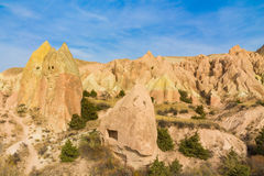 Cappadocia valley rock formations Royalty Free Stock Images