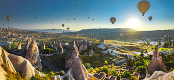 Cappadocia valley at sunrise Royalty Free Stock Photography