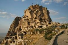 Cappadocia van Uchisar Royalty-vrije Stock Fotografie