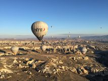 Cappadocia view. Beautiful view with the hot balloons Stock Images