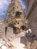 Cappadocia, Göreme, Turkey, construction work in a village with unique architecture Stock Photography