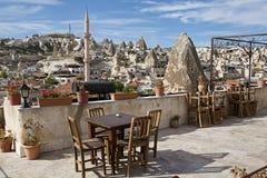 Cappadocia: visión panorámica desde el hotel Imagen de archivo libre de regalías