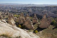 Cappadocia : vue panoramique de musée d'air ouvert de Goreme Image stock