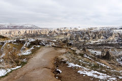Cappadocia in winter Royalty Free Stock Photo