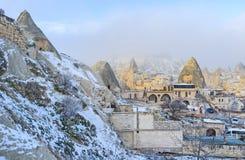 Cappadocia in winter Royalty Free Stock Photos
