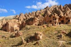 Cappadocia, Zelve, Turkije Royalty-vrije Stock Afbeeldingen