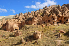 Cappadocia, Zelve, Turquía Imágenes de archivo libres de regalías