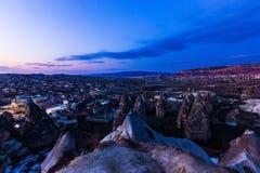 Cappadocia zmierzchu krajobraz Obrazy Royalty Free