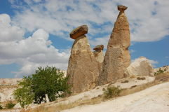 cappadociabildande vaggar kalkonen Royaltyfri Fotografi