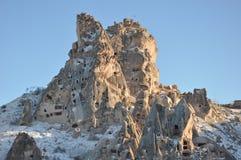 cappadociacavetown Arkivbilder