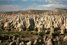 cappadociaen landscapes rocken Fotografering för Bildbyråer