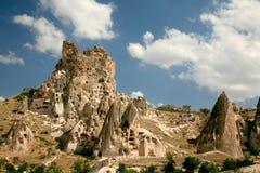 cappadociaen landscapes rocken Royaltyfri Foto