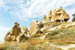 cappadociaen returnerar rockkalkonen Fotografering för Bildbyråer