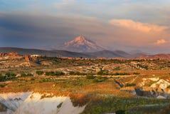 cappadociaerciyesberg Arkivfoto