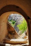 cappadociagrottadwelling royaltyfri bild