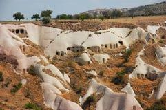 cappadociagrottan houses kalkonen Fotografering för Bildbyråer