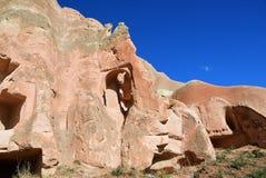 Cappadocialandschap, Turkije Stock Fotografie