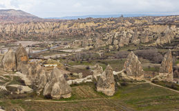 Cappadocian landscape Royalty Free Stock Photos