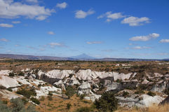 Cappadocian landscape with Mount Erciyes, Turkey Royalty Free Stock Images