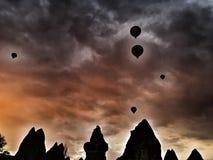 Cappadocianschoorstenen Stock Fotografie