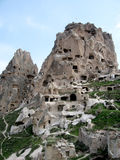 Cappadokia cave city and rock formation royalty free stock photography