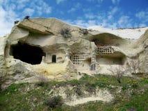 Cappadokia jamy miasta androckowa formacja zdjęcia stock