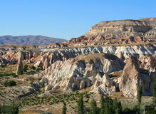Cappadokia mountains. Picturesque mountain of rose-coloured rock in Cappadokia royalty free stock image