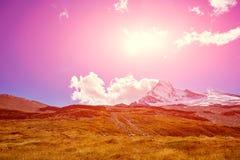 capped bergsnow Fotografering för Bildbyråer