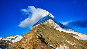 capped bergsnow Royaltyfri Fotografi