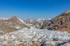 capped colorado rockies snow Royaltyfri Fotografi