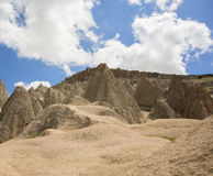 Capped earth pillars, Aksaray province, Turkey Royalty Free Stock Photos