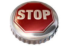 Capped Limit Stop Sign Cap Stock Image