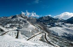 capped snow tibet för berg s royaltyfri fotografi