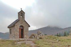 Cappella al parco nazionale Zavizan, Croazia Fotografie Stock Libere da Diritti