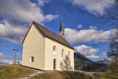 Cappella in alpi bavaresi Immagine Stock