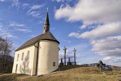 Cappella in alpi bavaresi Immagine Stock Libera da Diritti