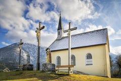 Cappella in alpi bavaresi Fotografia Stock