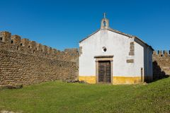 Cappella del castello di Belver immagine stock