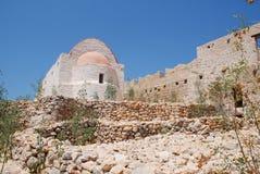 Cappella del castello su Halki Fotografia Stock